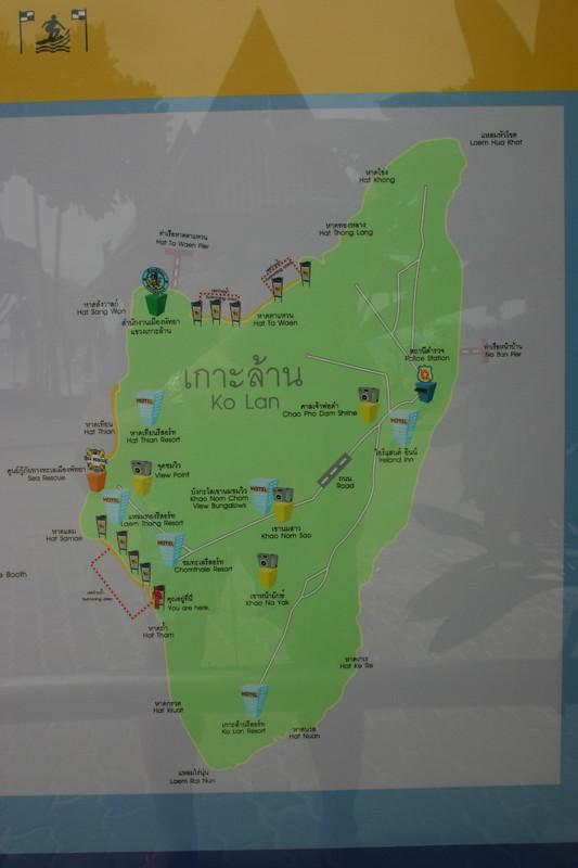 꼬란섬 지도